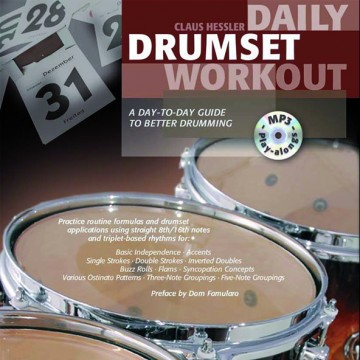 Daily Drumset Workout Cover engl
