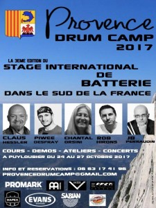 Provence Drum Camp Poster 2017